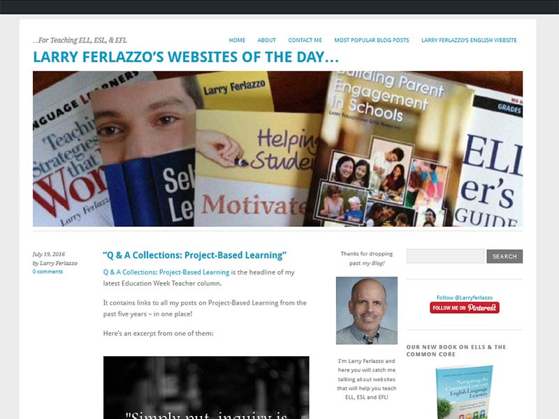 Larry Ferlazzo - Website Screenshot