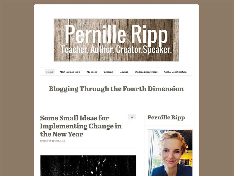 Pernille Ripp - Website Screenshot