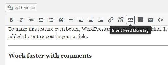 WordPress read more tag