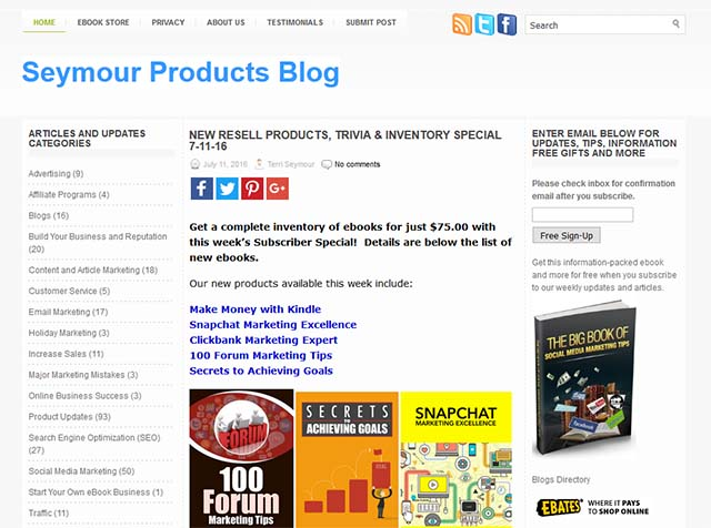 Terri Seymour Interview - Seymour Products Blog Screenshot