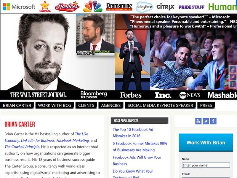 Brian Carter Group  - Website Screenshot