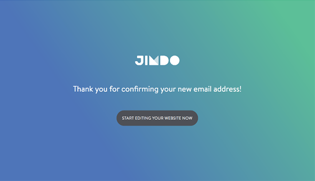 Jimdo E-mail Confirmation