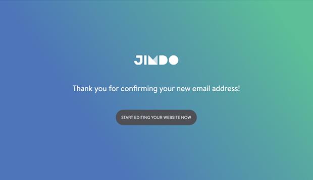 Jimdo E-mail Confirmation