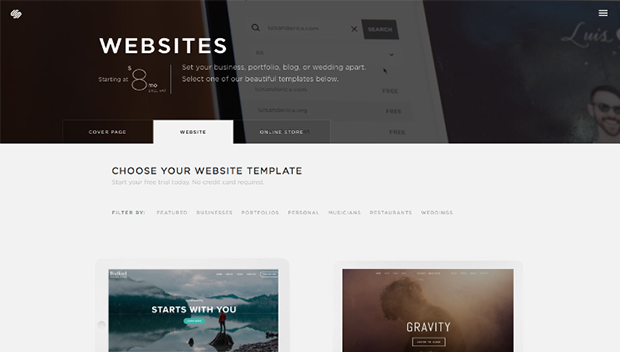 Squarespace Choosing Website Template