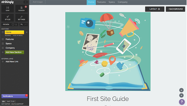 Strikingly Creating Webpages