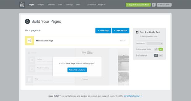 Virb Creating Website