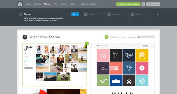 Virb Selecting Theme