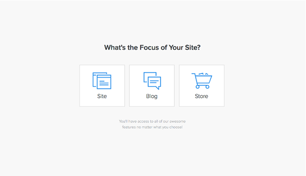 Weebly Choosing Your Websyte Type