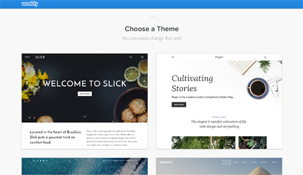 Weebly Choosing Theme