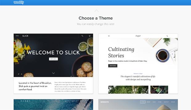 Weebly Choosing Theme