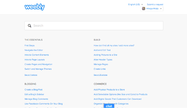 Weebly Help