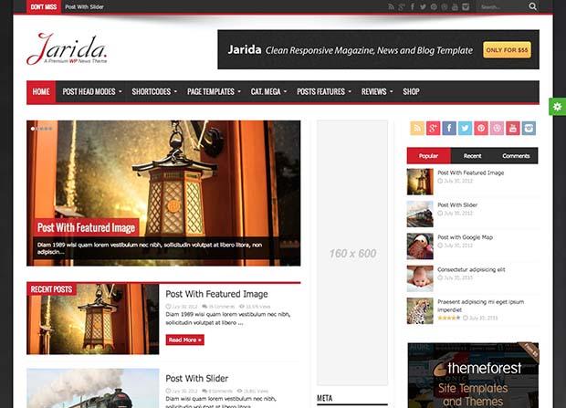 Jarida Theme Screenshot