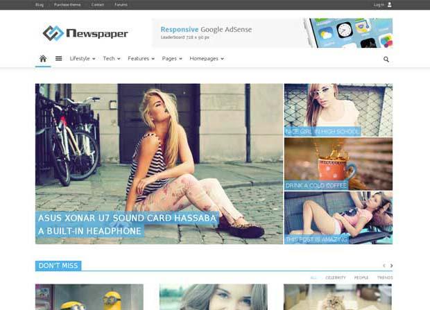 Newspaper Theme Screenshot