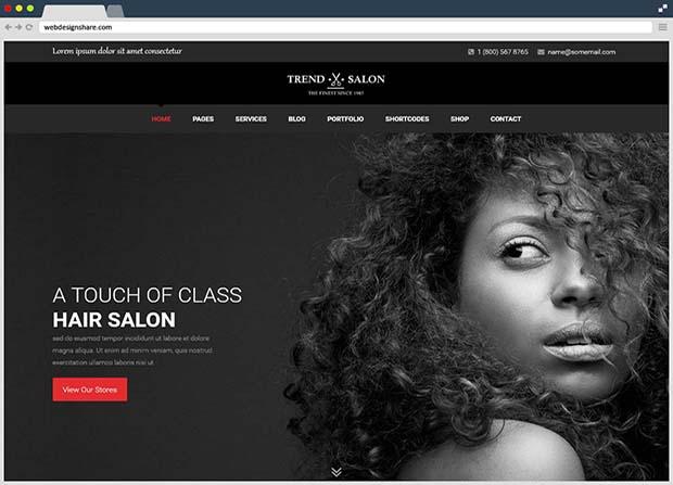 Trend Salon Theme Screenshot