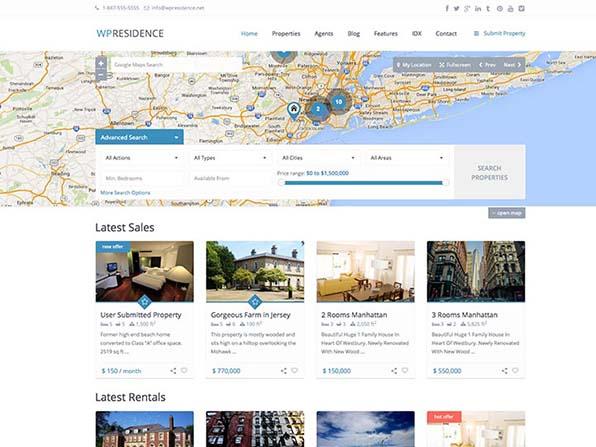 WP Residence Theme Screenshot
