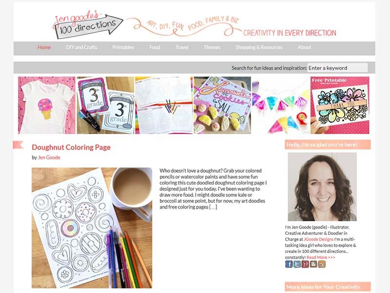 100 Directions - Website Screenshot
