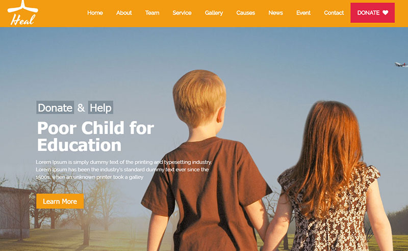 Heal charity theme