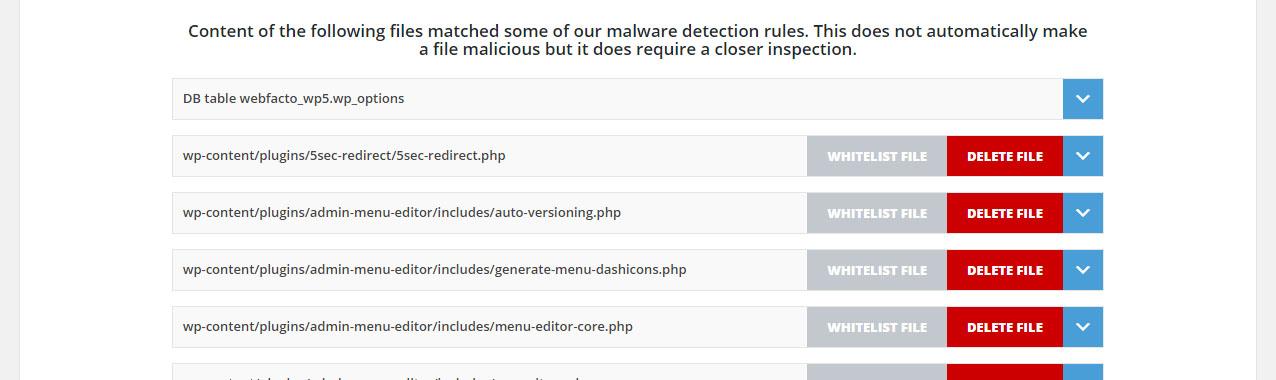 Security Ninja Malware Scanner addon