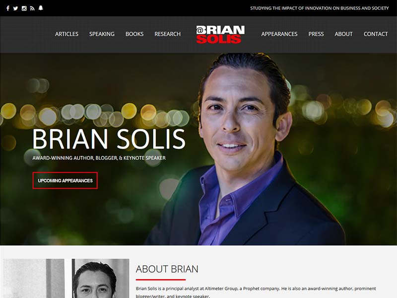 Brian Solis - Website Screenshot