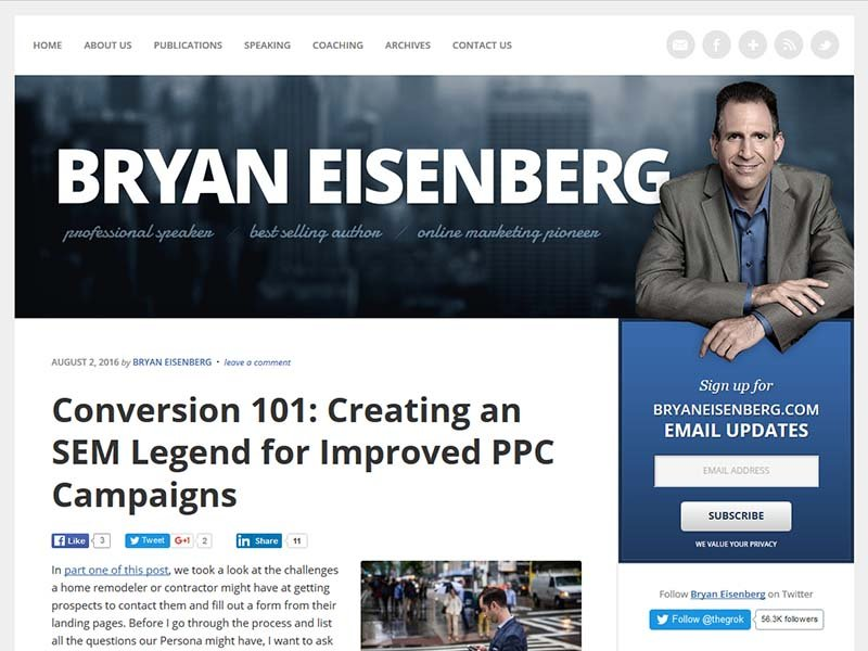 Bryan Eisenberg - Website Screenshot