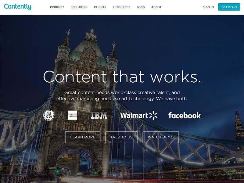 Contently - Website Screenshot