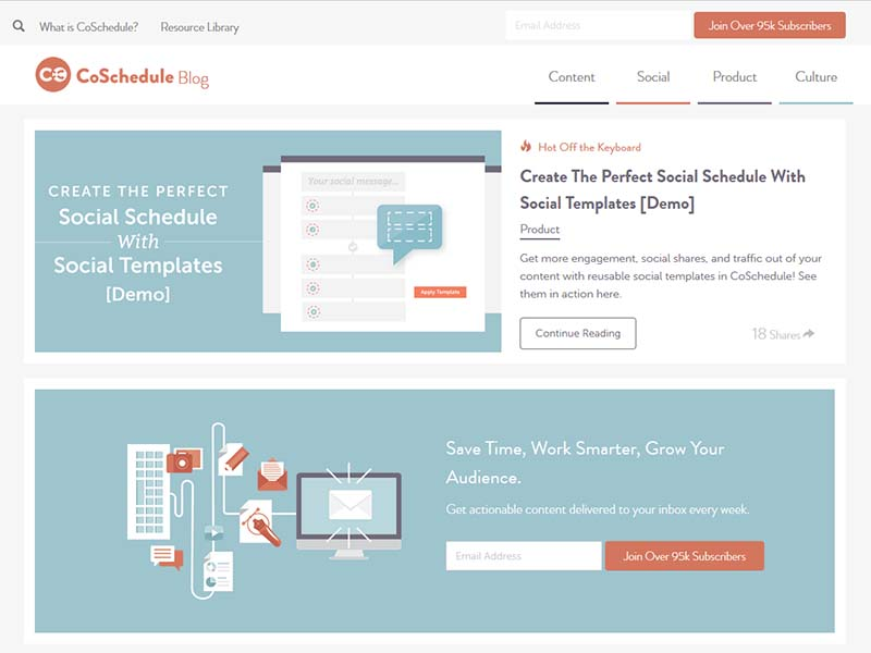 CoSchedule - Website Screenshot