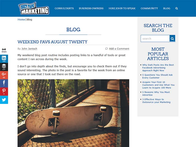 Duct Tape Marketing - Website Screenshot