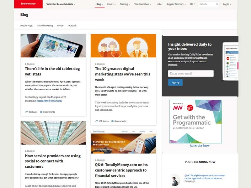 Econsultancy - Website Screenshot