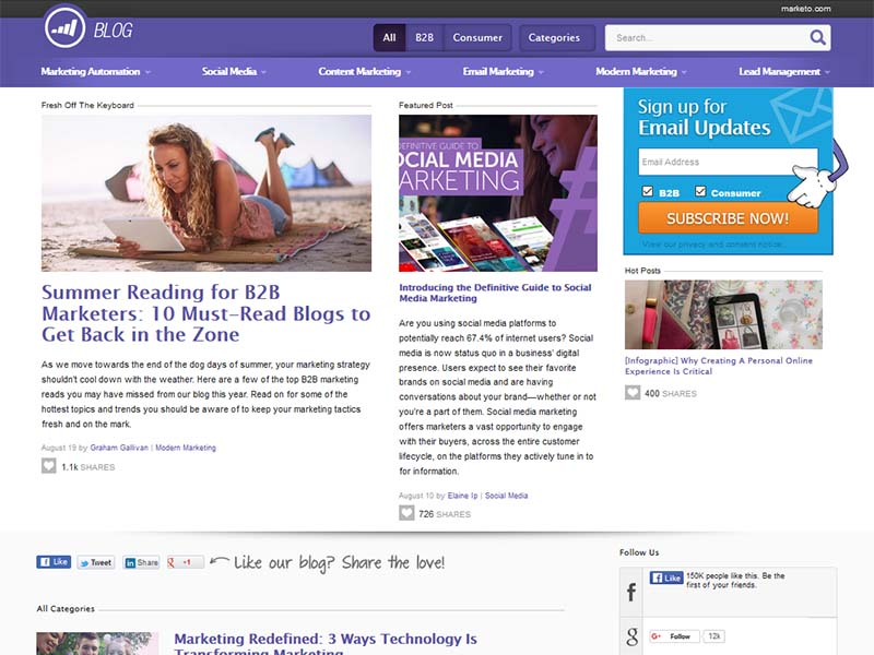 Marketo - Website Screenshot
