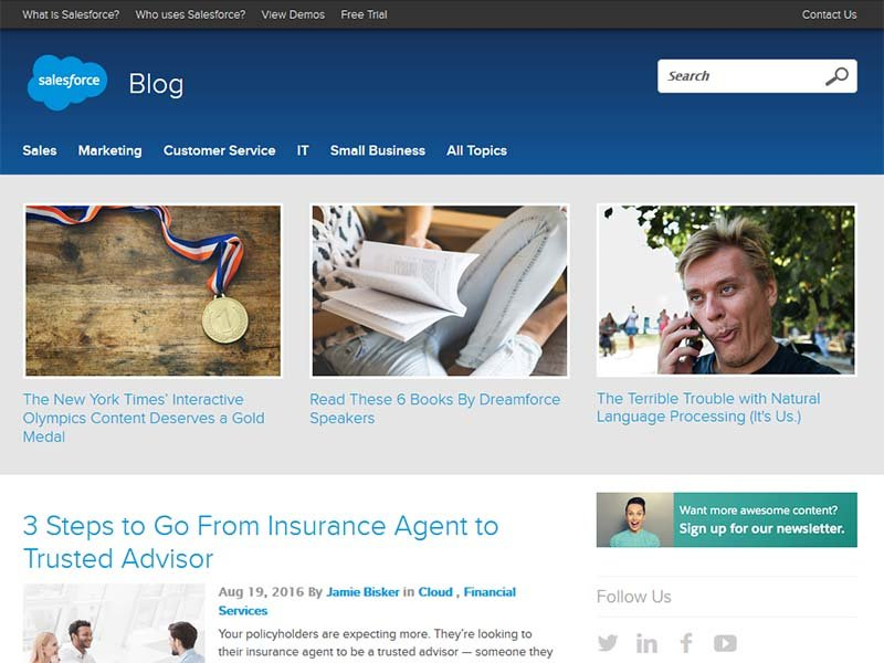 Salesforce Blog - Website Screenshot