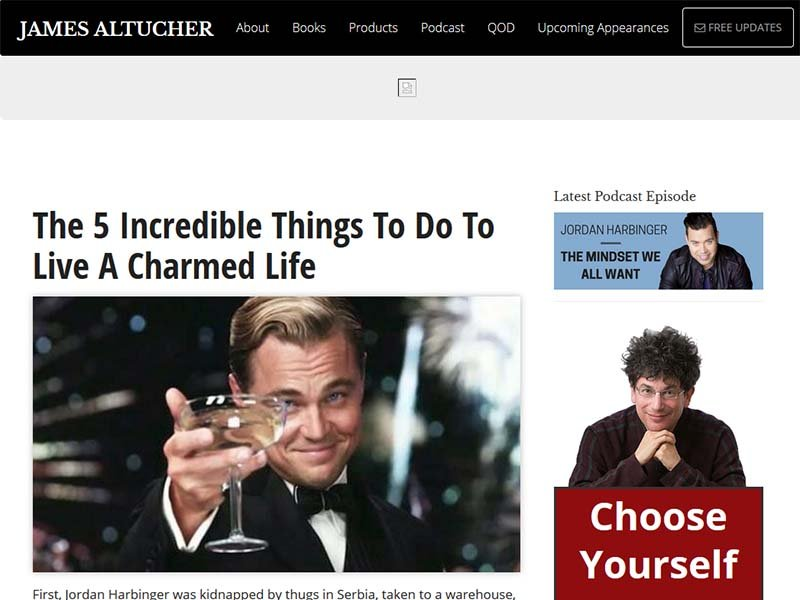 James Altucher - Website Screenshot