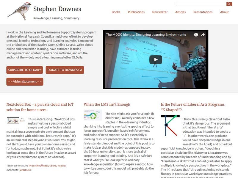 Stephen Downes - Website Screenshot