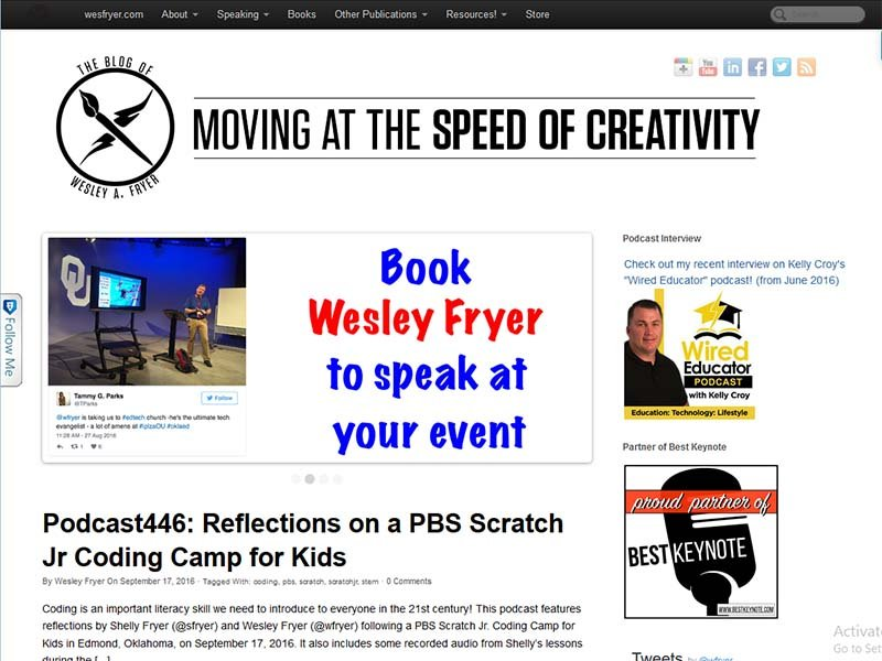 Moving at the Speed of Creativity - Website Screenshot