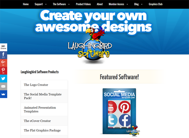 Lisa Sylvester Interview - Laughingbird Software Website Screenshot