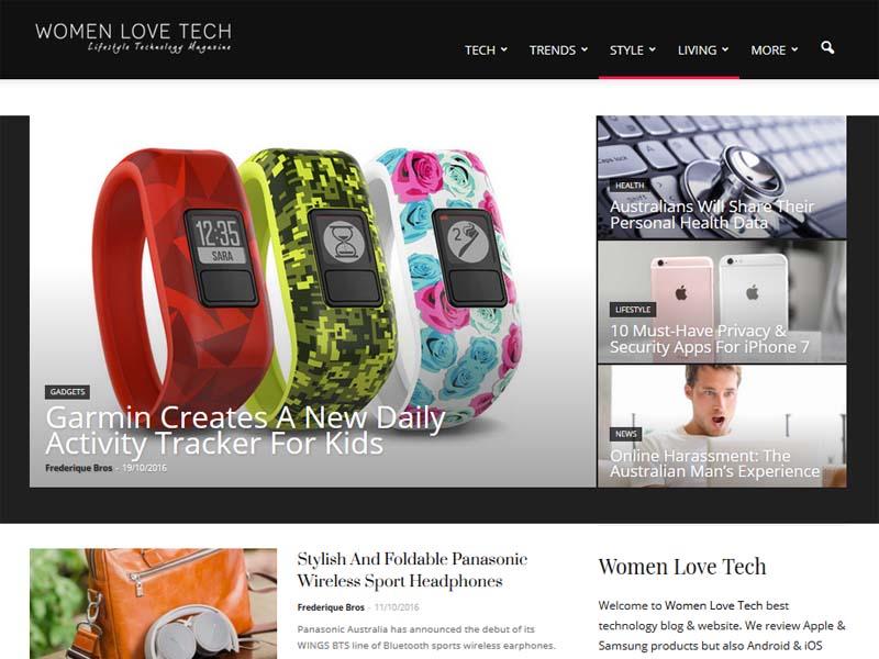 Women Love Tech - Website Screenshot