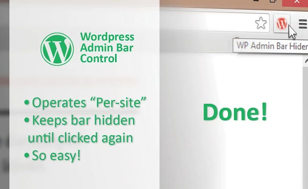 WordPress Admin Bar Control Chrome extension