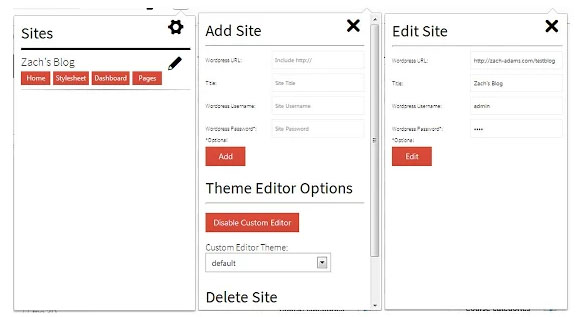 WordPress Site Manager extension for Chrome