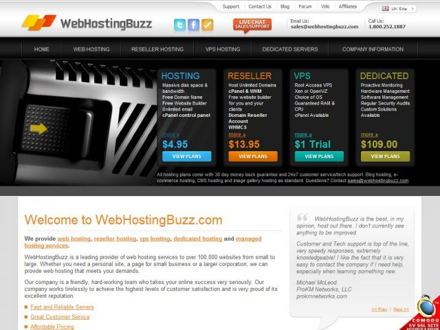 WebHostingBuzz Screenshot