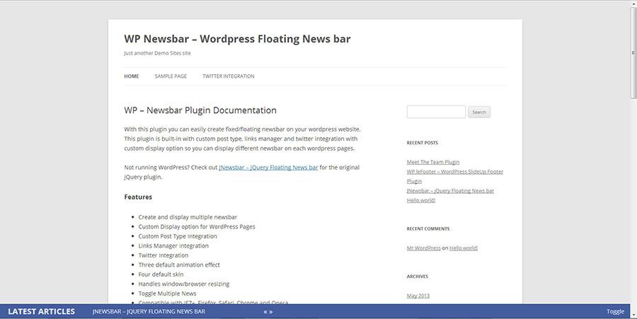 WP Newsbar