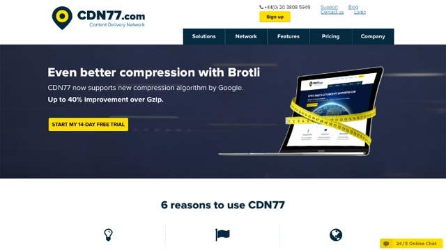 CDN77 homepage