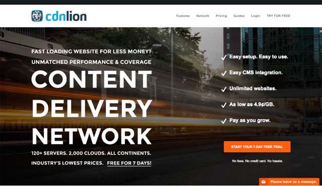 CDNlion homepage