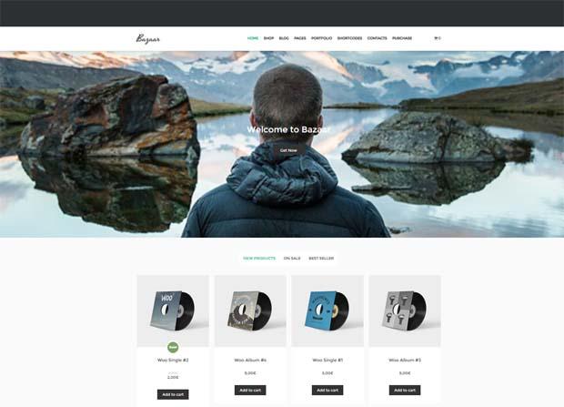 Bazaar Theme Screenshot