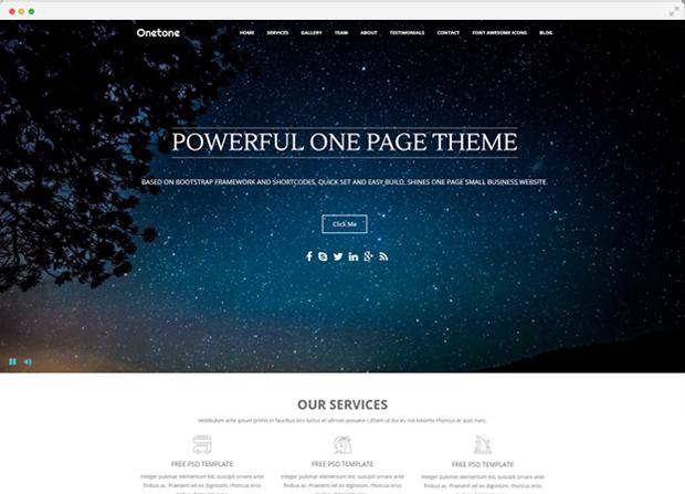 Onetone Theme Screenshot