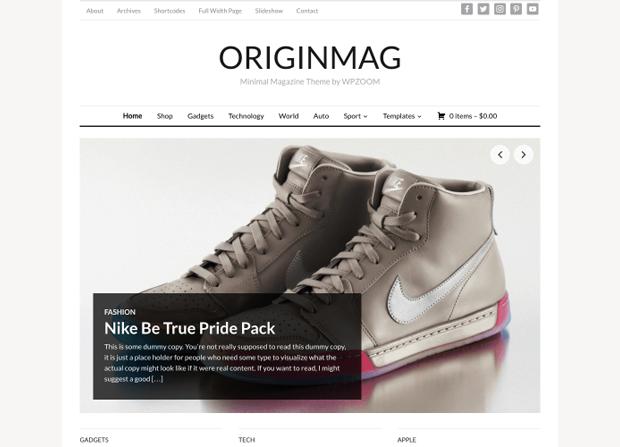 Origin Mag Theme Screenshot