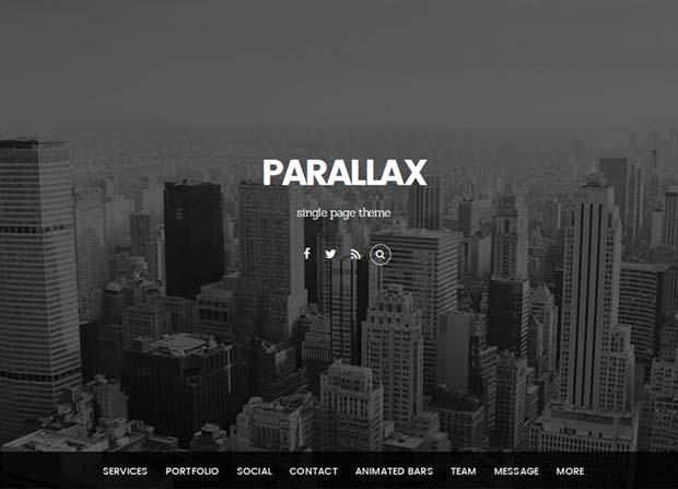 Parallax Theme Screenshot