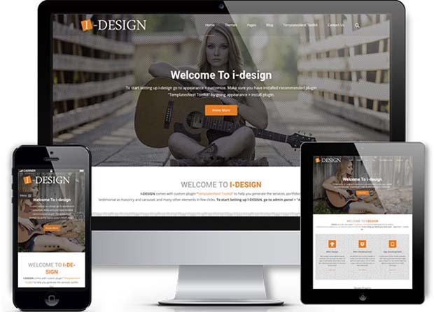 i-design Theme Screenshot