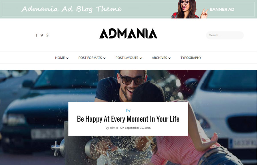 Admania WordPress theme