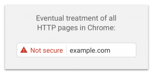 Chrome, future version HTTP sites