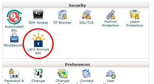 Let's Encrypt cPanel