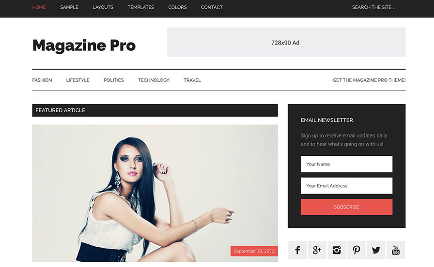 Magazine Pro from StudioPress Genesis theme